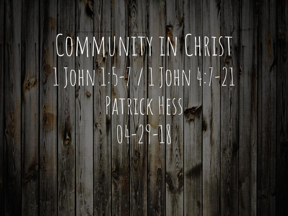 Community in Christ