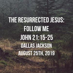 The Resurrected Jesus:  Follow Me