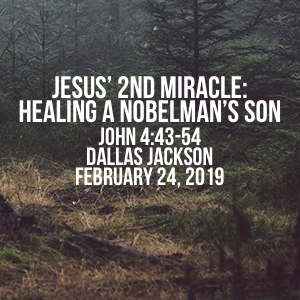 Jesus' 2nd Miracle: Healing A Nobleman's Son
